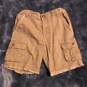 Boys Frayed Cargo Shorts